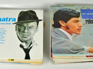Assorted Vintage Vinyl lP Records with Sinatra