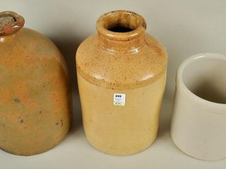 3 Small   Medium Vintage Crocks