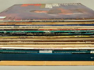 Assorted Vinyl lP Records with Johnny Cash