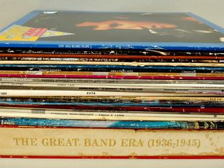 Assorted Vinyl lP Records with Elvis Presley