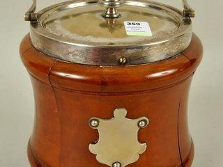 English wood tobacco jar Humidor with lid