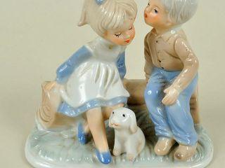 Boy   Girl Figurine with Puppy
