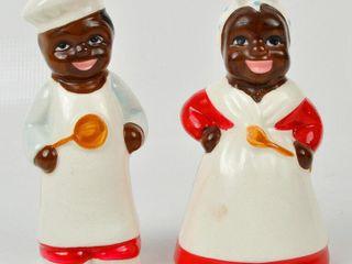 Black Americana Salt   Pepper Shakers