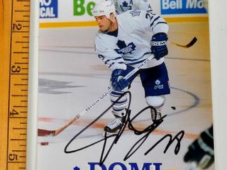 Signed Tie Domi Maple leafs 4x6 Photograph  2