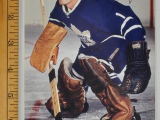 Signed Johnny Bower Maple leafs 5x7 Photograph