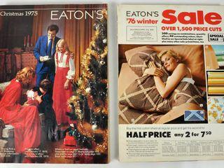 2 Eaton s Catalogues Christmas 1975   Winter 76