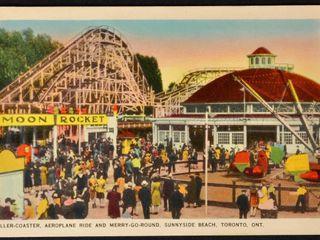 Vintage Postcard Sunnyside Beach Amusement Park