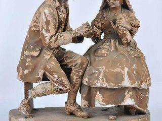 Sleepy Hollow  Courtship  Plaster Sculpture