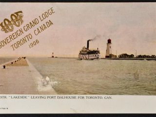 Antique Postcard  lakeside  leaving Port Dalhous
