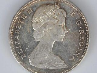 Canadian Coin 1965 Silver Dollar