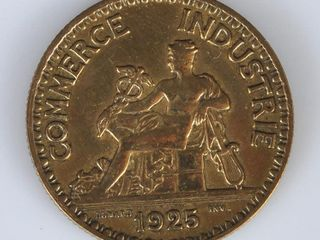 1925 French Coin 2 Francs