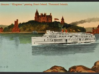 Antique Postcard Steamer  Kingston