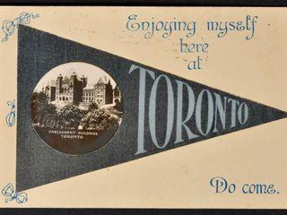 Antique Postcard Enjoying Myself here at Toronto