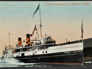 Antique Postcard Niagara Steamer  Corona