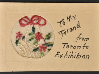 Antique Postcard  To my friend from Toronto Ex