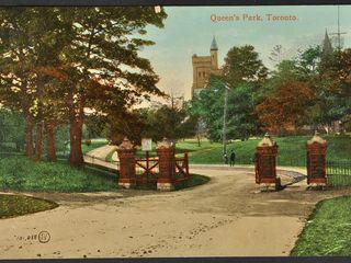 Antique Postcard Queens Park Toronto