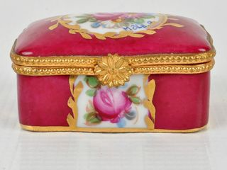 limoges France Hand Painted Dresser Box