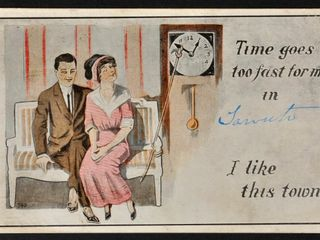 Antique Postcard  Time goes too fast for me