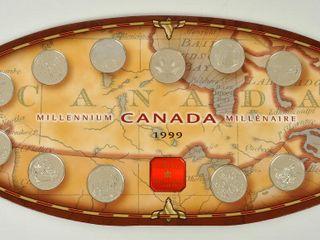 Canada Millennium 1999 Province Coins in box