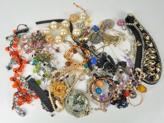 lot of Costume Jewelry for crafts