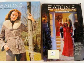 2 1970s Eaton s Catalogues