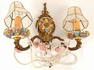 Capodimonte Handpainted Wall Sconce