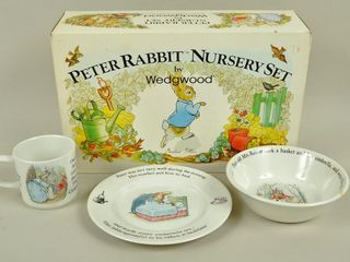 3 Piece Wedgwood Peter Rabbit Set