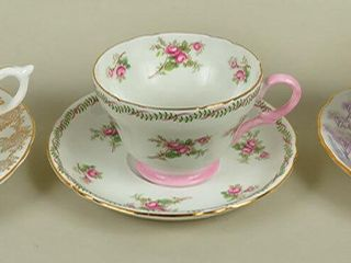 3 Assorted Cups   Saucers