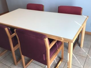 Conference Table and 4 Chairs  3 ft  X 6 ft