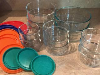 Round Pyrex Bowls With lids