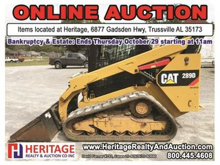 Bankruptcy & Estate Auction ending 10/29/20