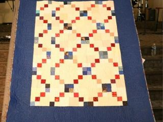 Four Patch  custom machine quilted