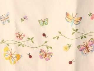 Pair of pillowcases  hand embroidered