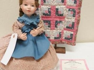 Eleanor Doll with Quilt  rack included