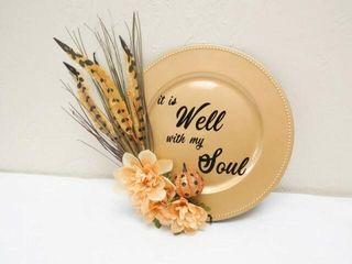 Decorative plate    It is Well With My Soul