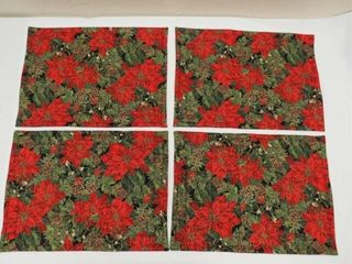 Reversible placemats   napkins   Poinsettia