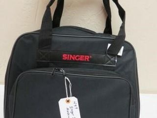 Black Universal Canvas Sewing Machine Tote