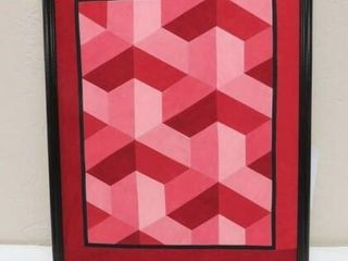 Framed Fabric Quilt Pattern Art
