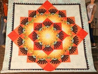 Woodcarver s Star  hand quilted