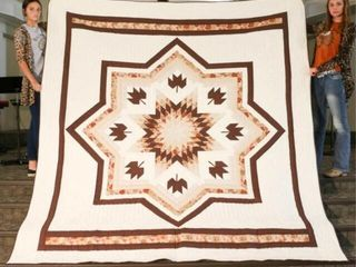 Maple leaf Star  hand quilted