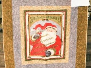 Santa Clause  machine quilted