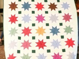 Pieced Stars  hand quilted