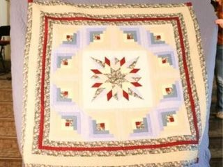 Star log Cabin  hand quilted