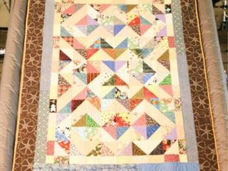 Triangle Tricks  machine quilted