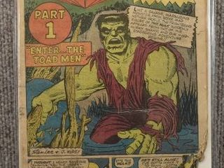 Rare Vintage Incredible Hulk  1962 1st Series  Issue  2   Missing Cover Damaged