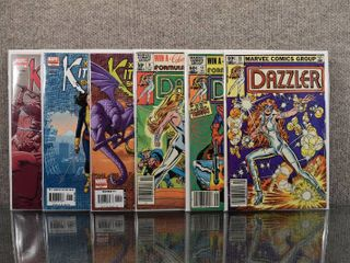 lot of 6 Marvel Comics  Dazzler  1981   9  11   20  X Men Kitty Pryde Shadow and Flame  2005   1  2   4