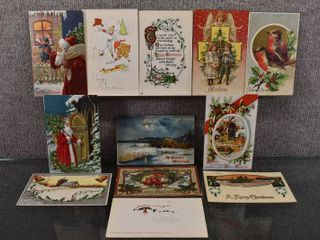 lot of 12 Antique Christmas Postcards   1915  1911  1909  1910