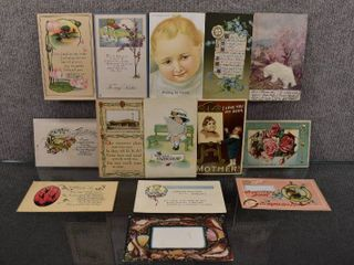 lot of 14 Antique Mother  Sister   Congratulations Postcards   1926  1913  1910