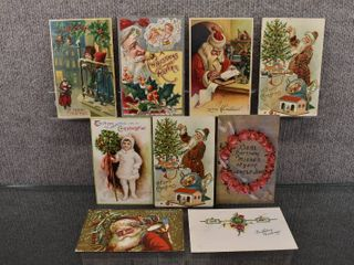 lot of 8 Vintage Christmas Postcards   Some are embossed