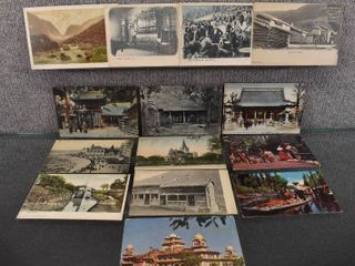 lot of 14 Vintage Postcards From Foreign Countries   1955 etc